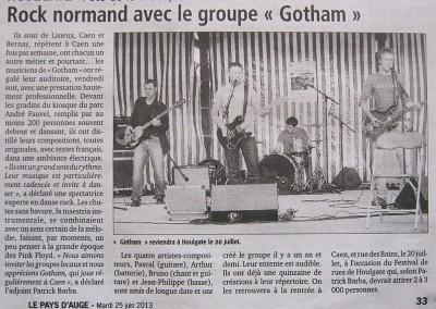 Gotham envoie du rock !